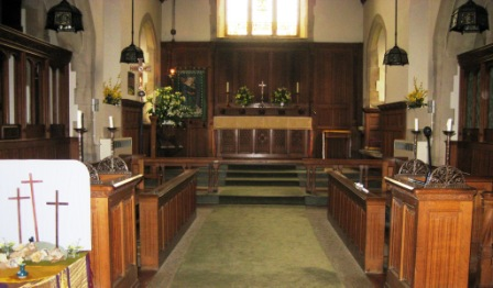 View of the altar in St John the Baptist
