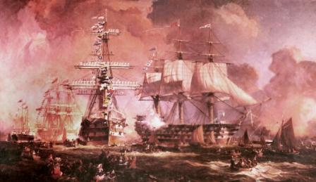 painting of HMS Himalaya
