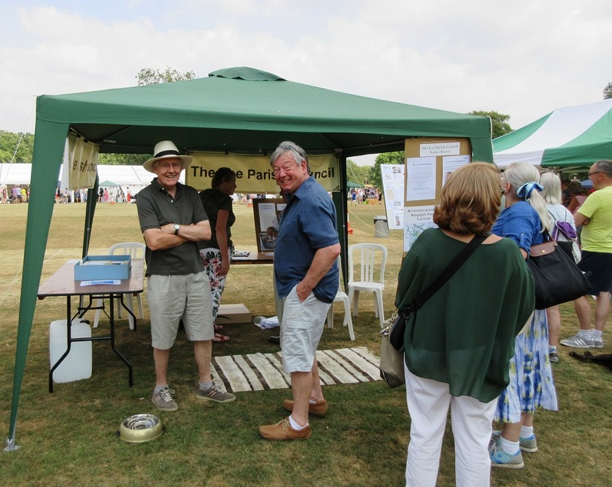 The Lee Parish Council stall at the 2018 Flower Show