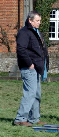 John Nettles by the cottages