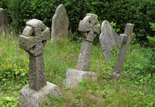 Gravestones in the old churchyard