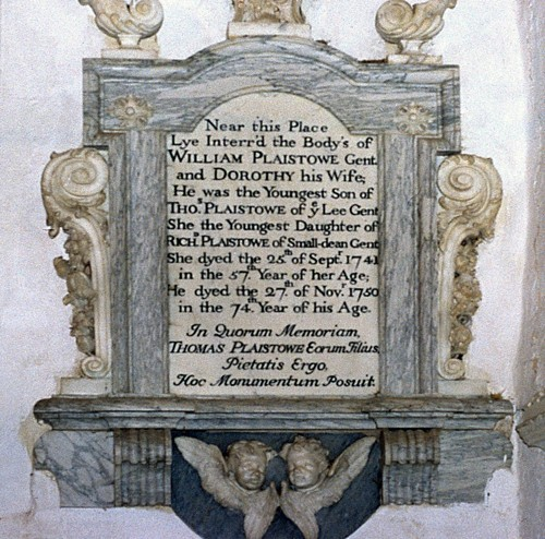 Plaistowe family memorial