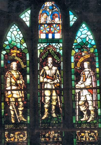 "The ""Puritan window"" - a stained glass window"