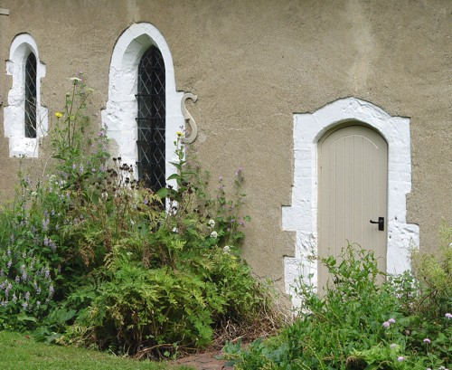 The side door on the southern wall of the Old Church