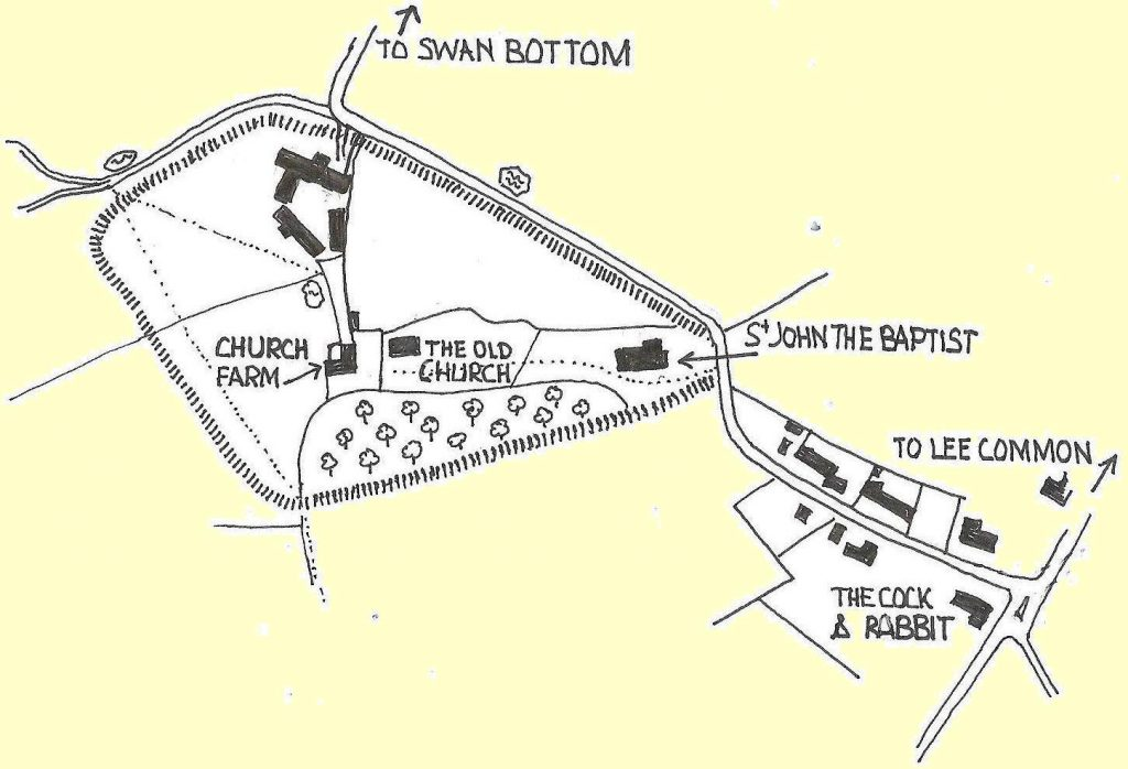 map of the extent of the iron age fort