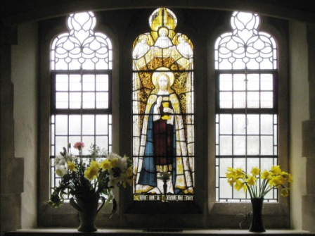 Stained glass window in the 'new' church