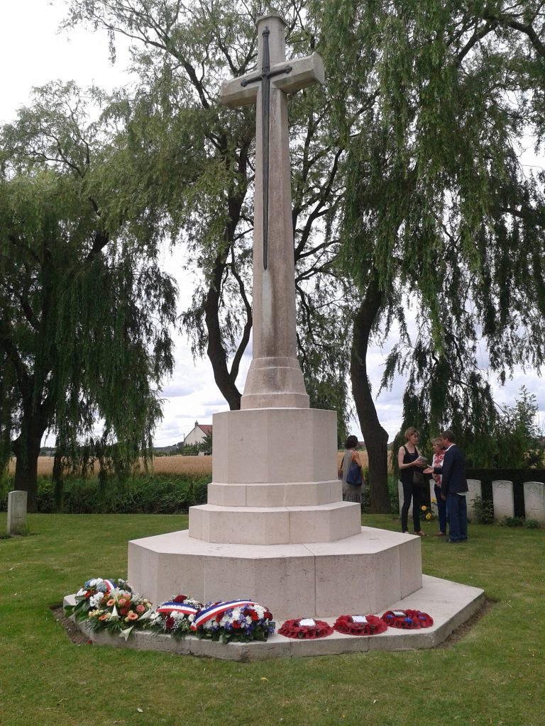 The war memorial in Fromelles