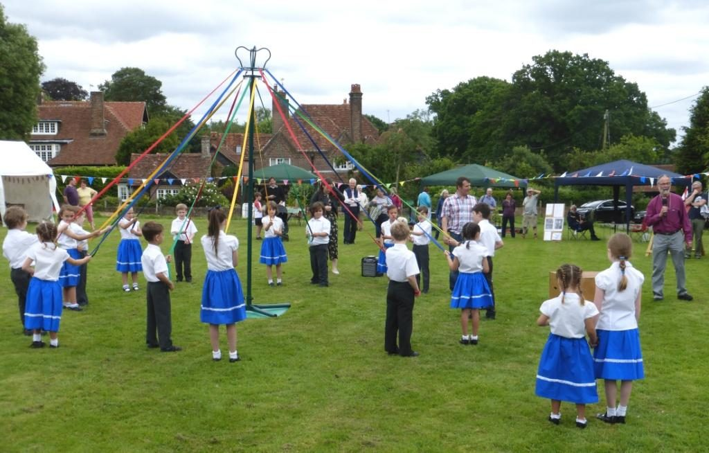 Lee Common C of E School Maypole Dancing at the Church Fete