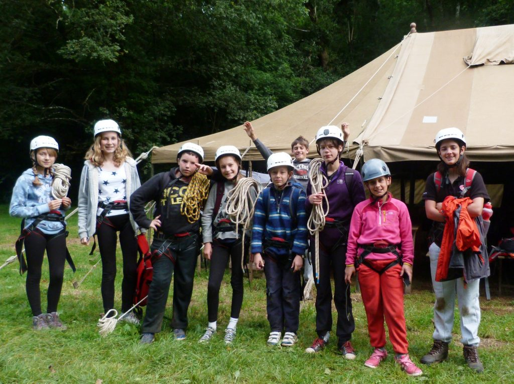 Lee Common Scouts ready to go climbing