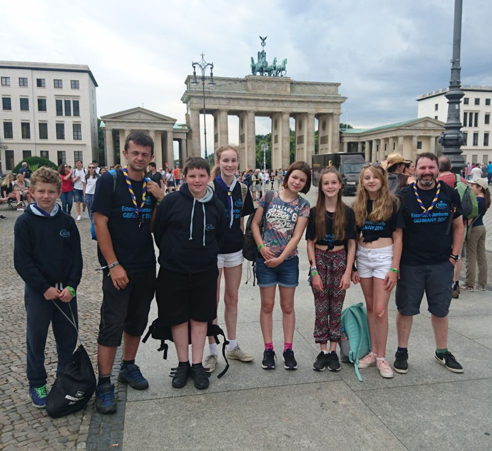 Lee Common Scouts visit a German national Scouting jamboree