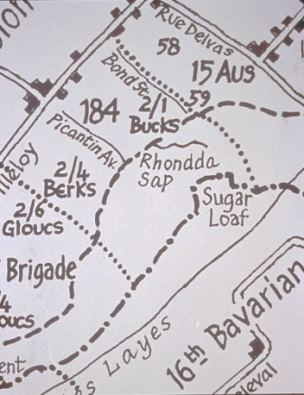 Map of the Sugar Loaf at Fromelles