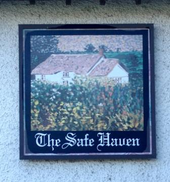 """Sign for """"The Safe Haven"""", the alter ego of the Cock and Rabbit"""