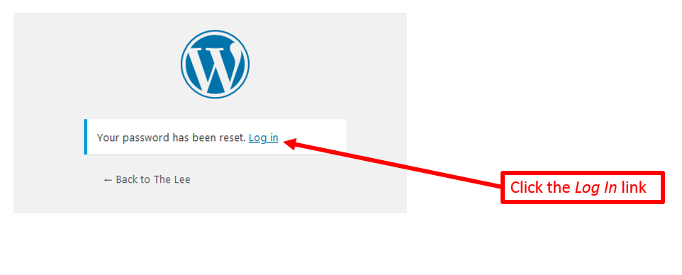 annotated screenshot highlighting the Log In button