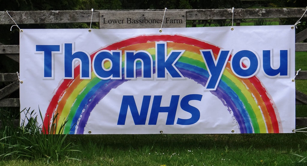 Rainbow gate - Thank you NHS