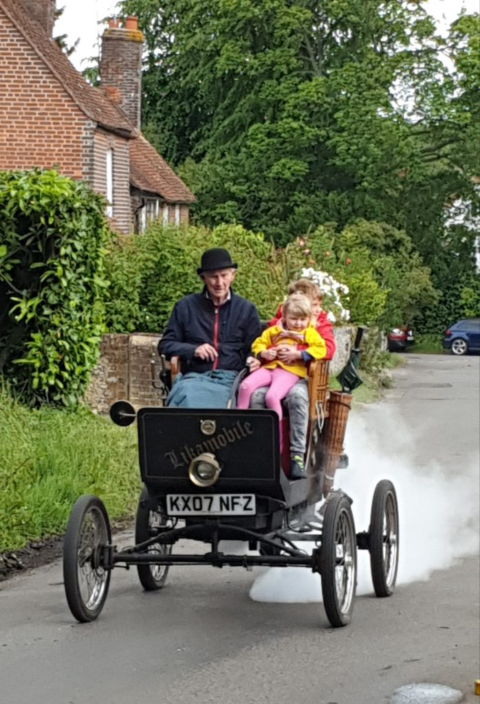 John Barber and his steam car