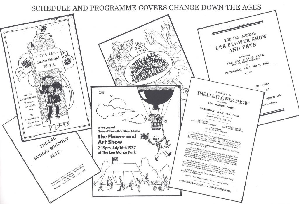 Programme covers through the years: 1901, 1912, 1936, 1967, 1977 and 1992