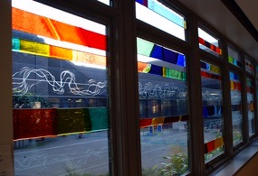 Day by Day Stained Glass window at Stoke Mandeville Hospital